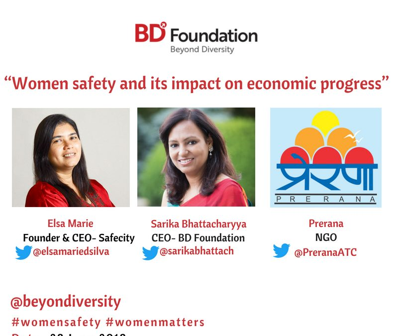 Twitter Chat- Women safety and its impact on economic progress- 28 June 2018