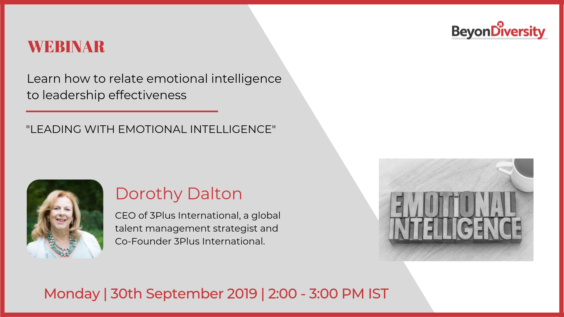 Leading with Emotional Intelligence - Webinar with Dorothy Dalton